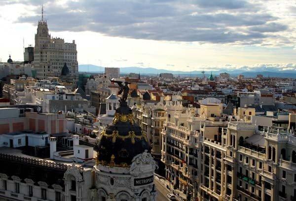Madrid, desde la azotea del Círculo de Bellas Artes.
