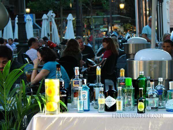 Terrace Bar outside San Miguel Market