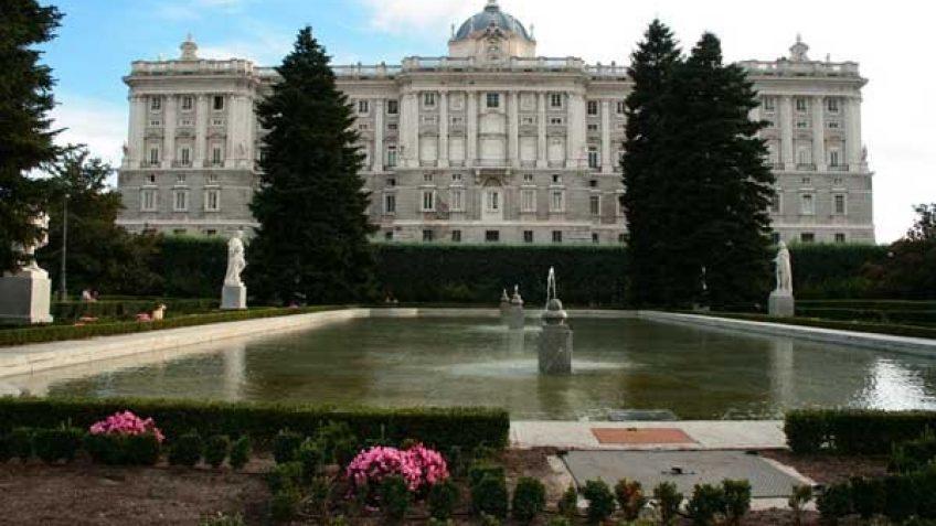 Imagen del Palacio Real con los Jardines de Sabatini.