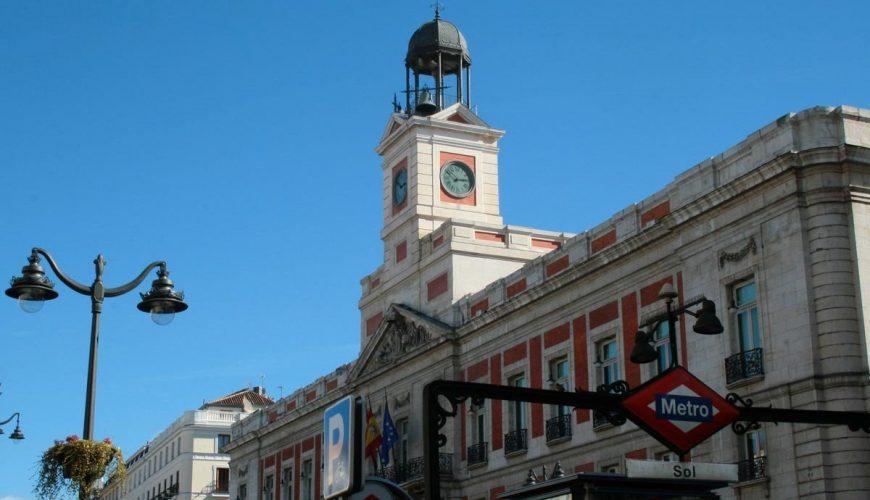 Puerta del Sol - Reloj de Gobernación