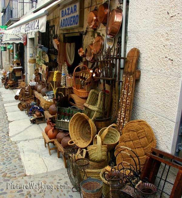 Bazar en Chinchón, Madrid, España