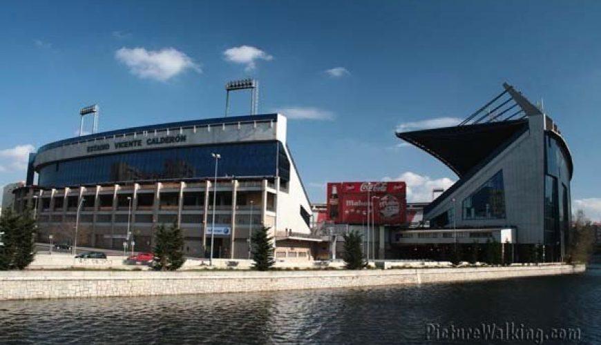 Estadio Vicente Calderón en el Manzanares
