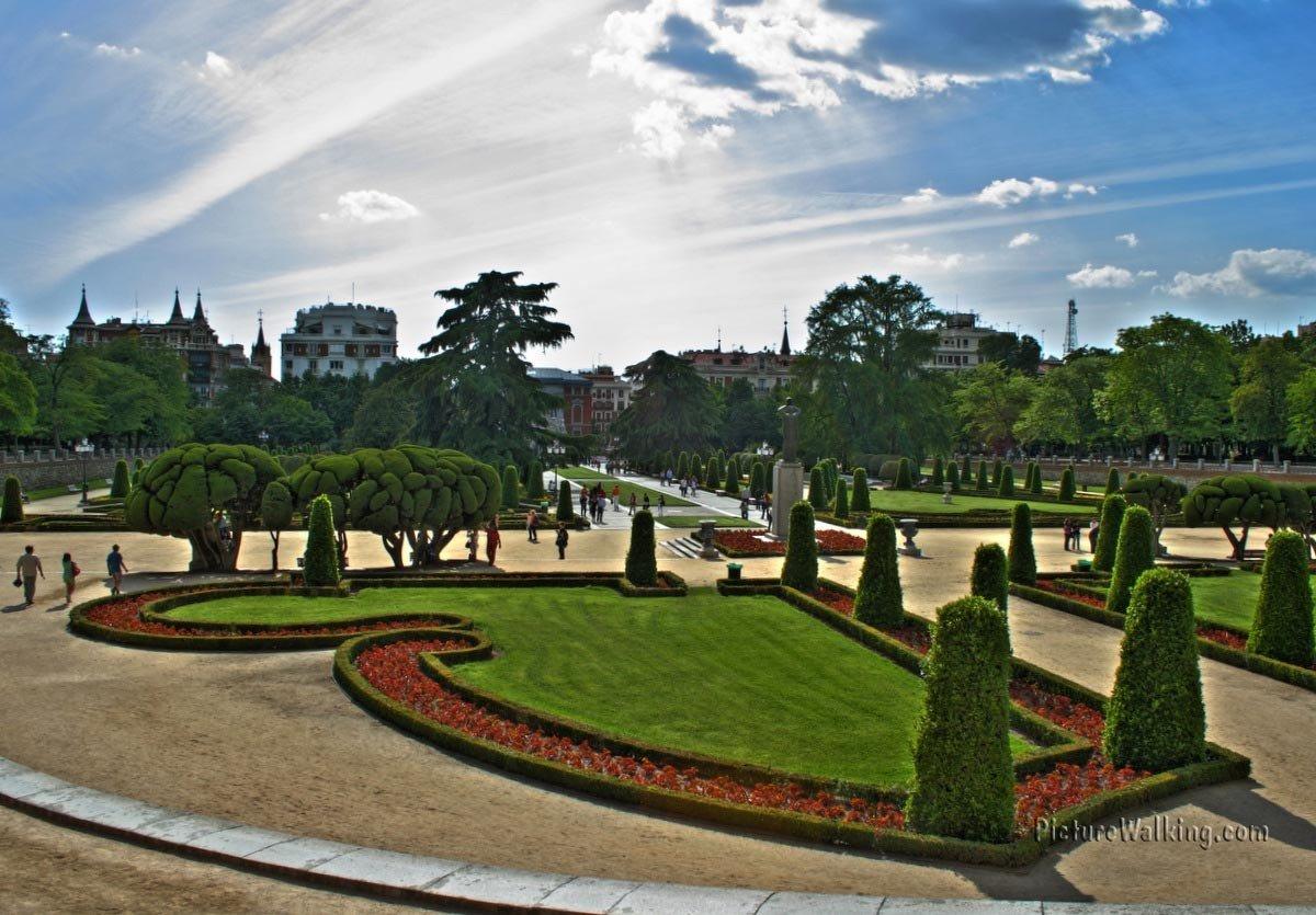Parterre gardens on the South West, part of Retiro Park