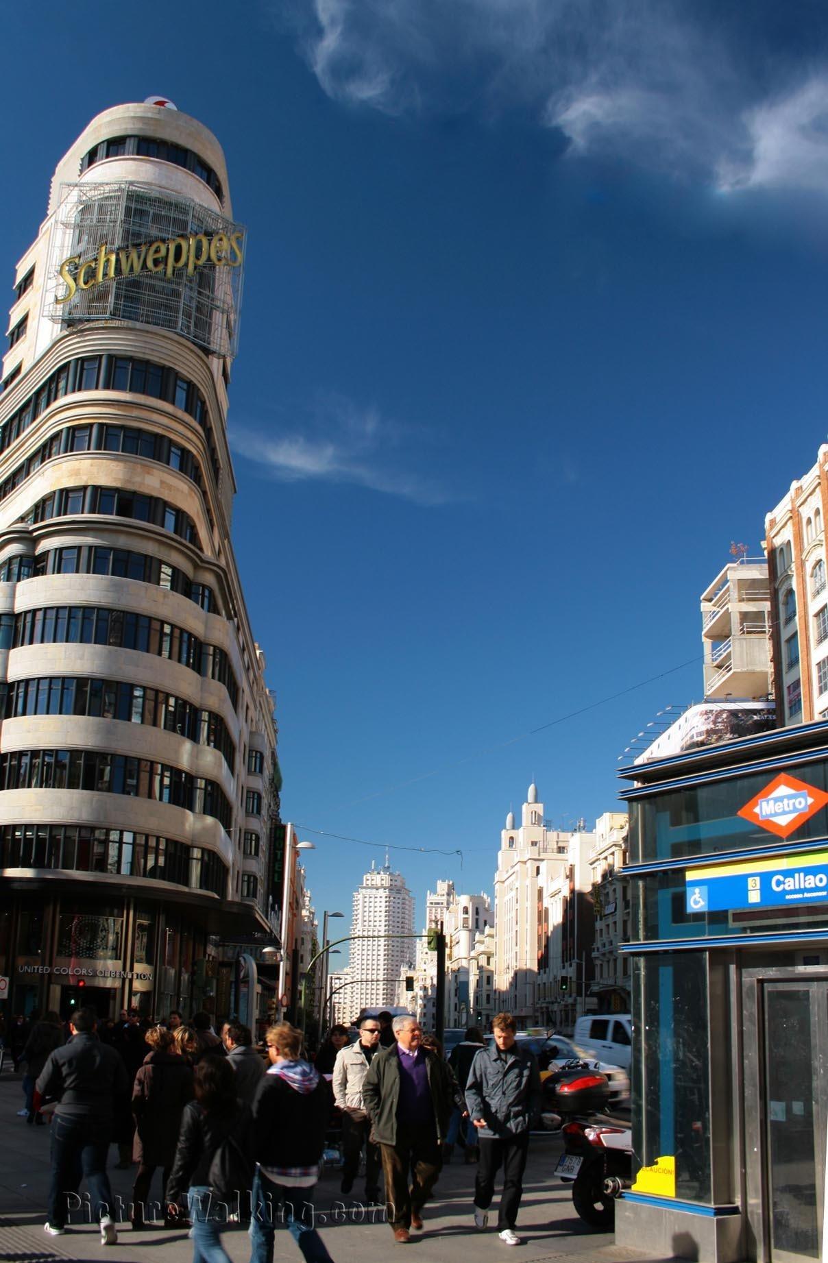 Plaza Callao vista hacia Plaza España