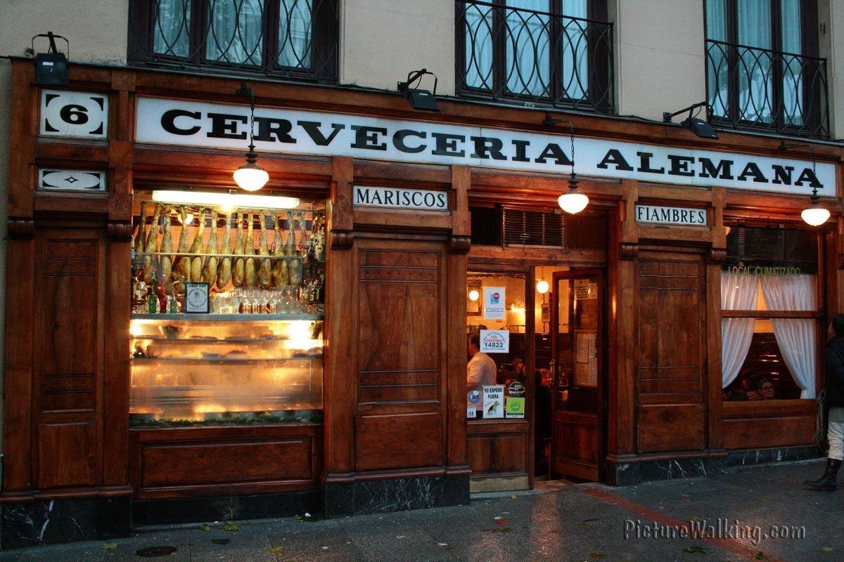 Cerveceria Alemana en Plaza Santa Ana de Madrid