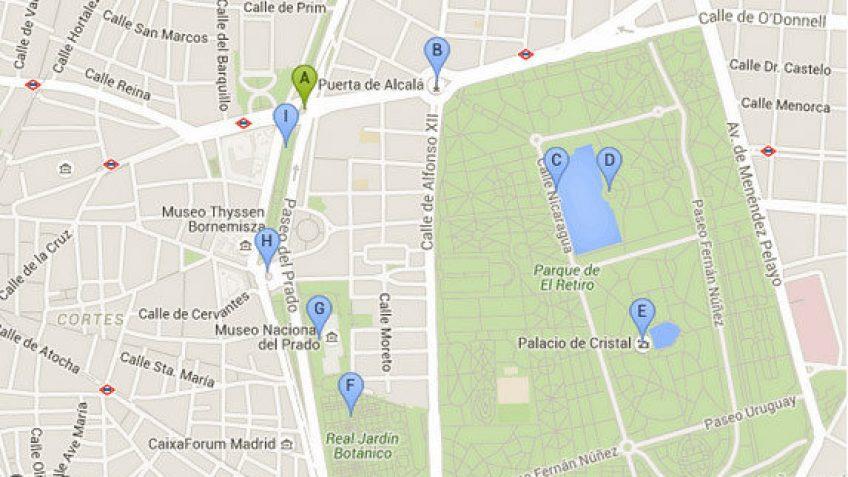 Ruta de Paseo 4 Madrid
