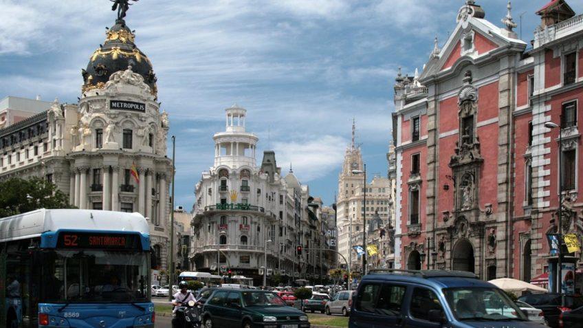 Intersección de Calle Alcalá y La Gran Via.