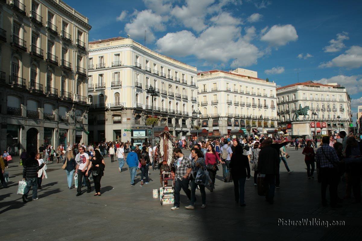 Plaza Puerta del Sol in Madrid