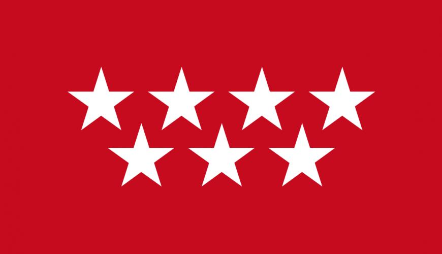 Bandera de Madrid despues de 1983.
