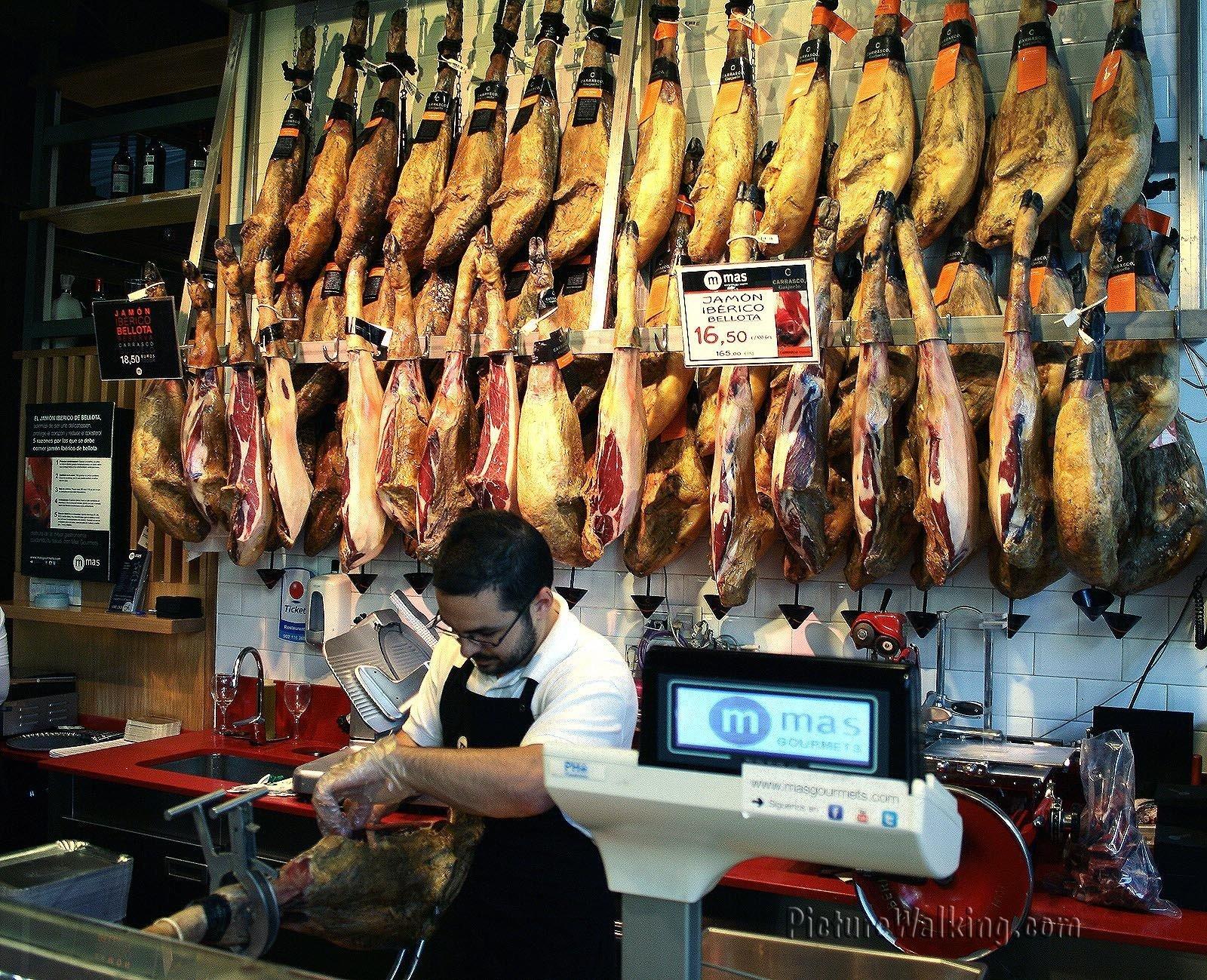 Corte del Jamon en el Mercado San Miguel