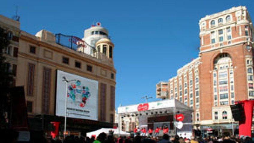 Plaza del Callao en un evento publicitario.