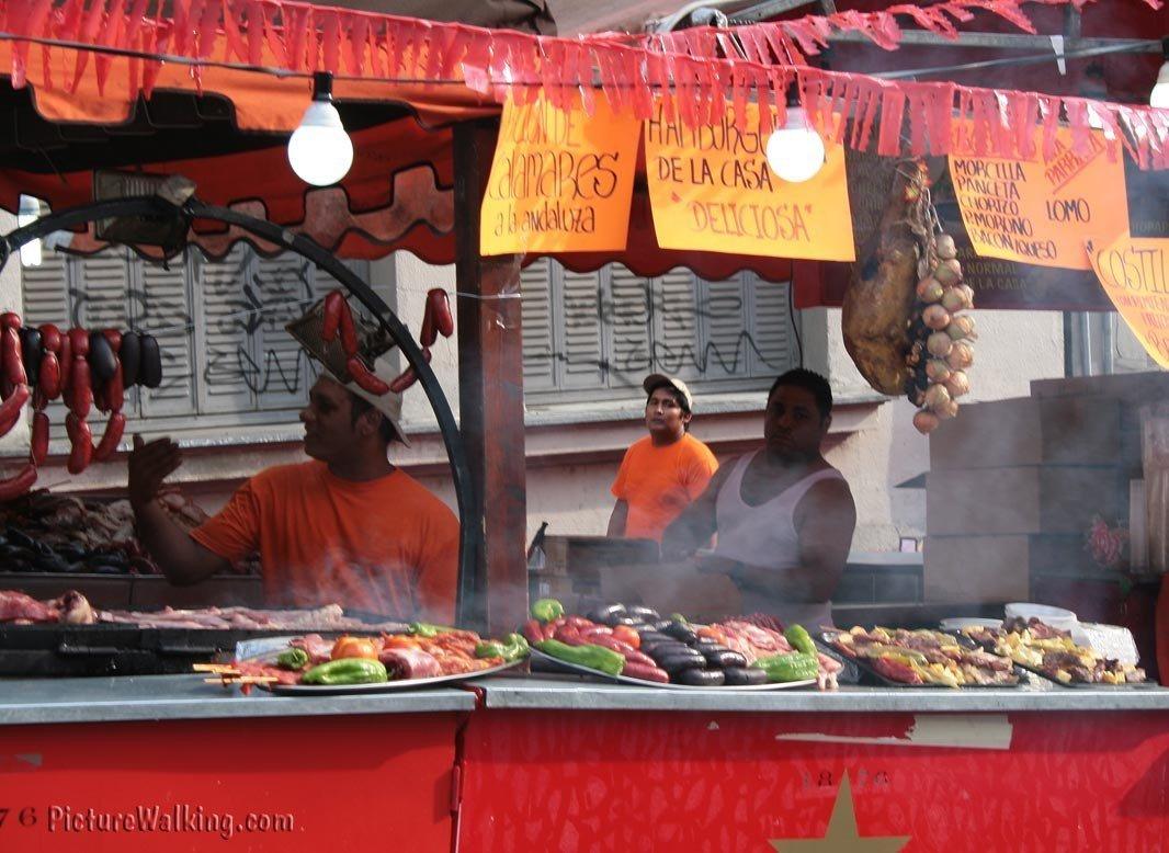 Puesto de Barbacoa Fiestas de La Paloma
