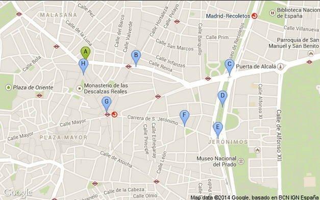 Madrid Walking Tour 2 Map