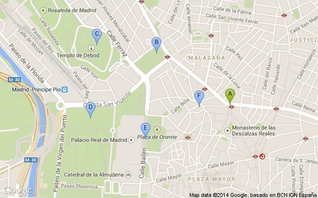 Plano de Madrid, Ruta de Paseo 3