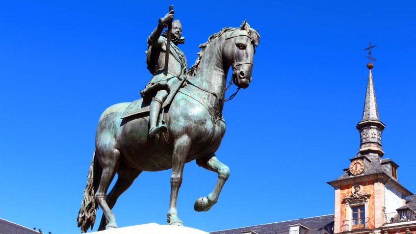 Estatua de Felipe III en la Plaza Mayor