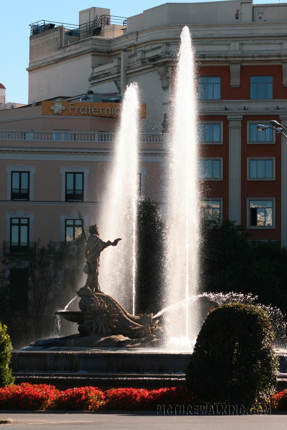 Neptuno Fountain on the Plaza of the same name