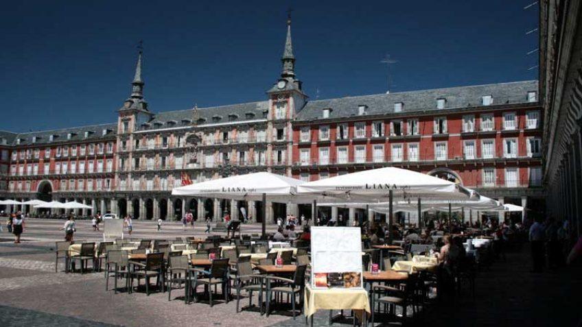 Terrazas en la Plaza Mayor