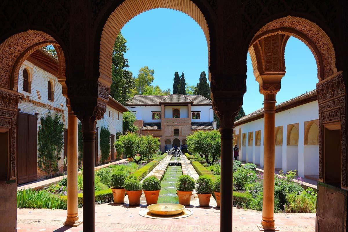 Arcos en el Generalife, La Alhambra, Granada