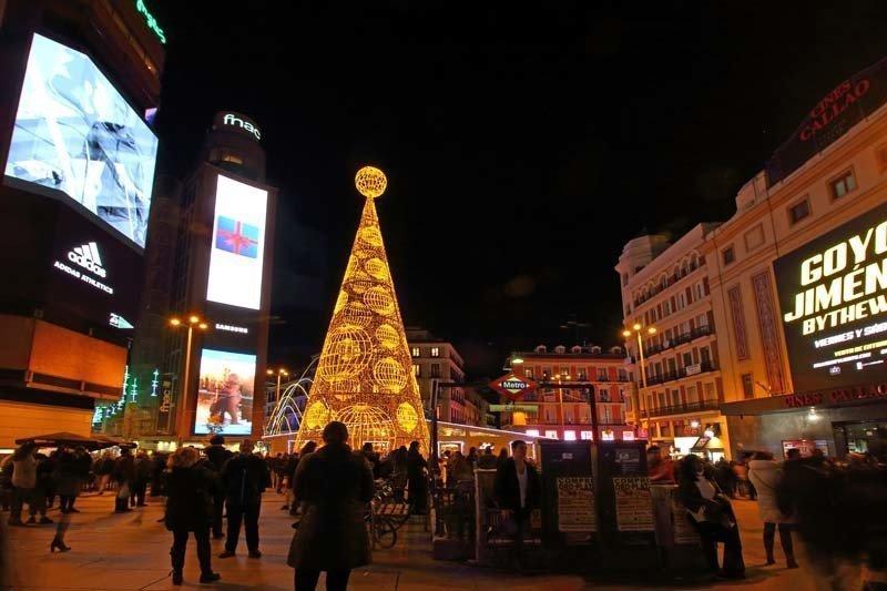 Plaza Callao, en Navidad de 2016