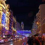 La Gran Vía Madrileña, abierta a los peatones, en Navidad 2016